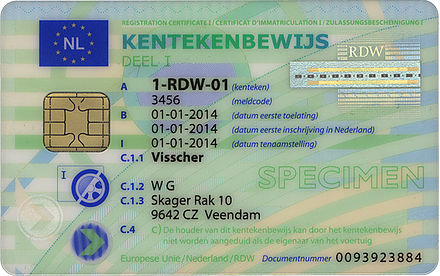 rdw registration card example